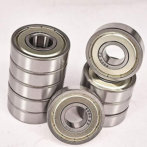 10 Pack 6000ZZ Deep Groove Ball Bearing, Precision Bearings 10mm X 26mm X 8mm, Double Shielded Metal Seal, Suitable for Linear Motion, Wheels, Skateboard, High Speed & - Bearing Skateboard 10mm