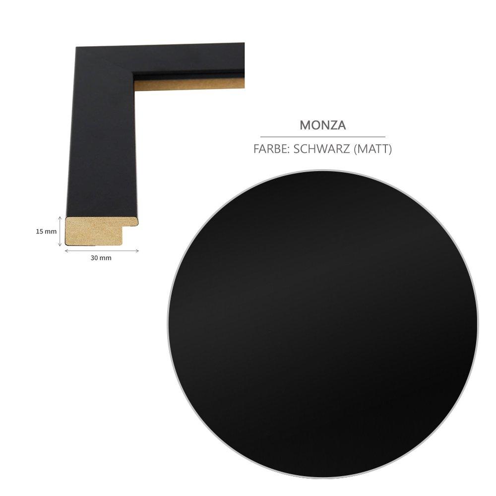 Bilderrahmen Monza 18x24 (Zoll/inch)   ca. 45,7x60,9cm Schwarz (Matt ...