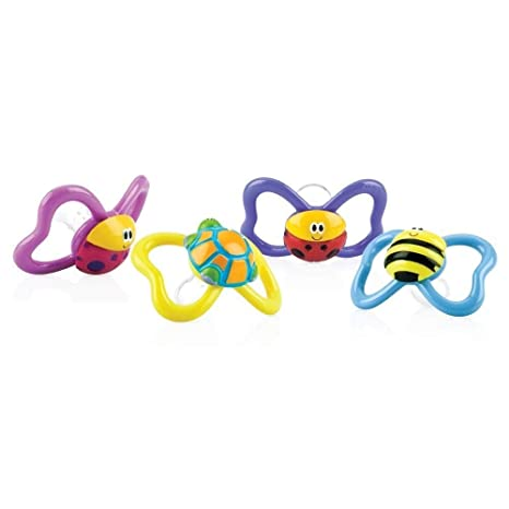 Nuby ID5880MFSM - Chupete oval de animalitos: Amazon.es: Bebé