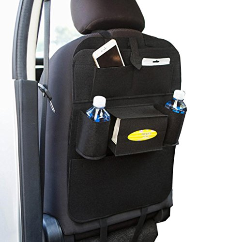 Cushion Solid Rubber Wheel (Elevin(TM)Universal Car SUV Back Seat Tidy Organiser Multi-Pocket Pouch Storage Bag Organizer Holder Hanger (Black))