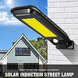 Solar Lights Lighting Outdoor 210 COB LEDs Waterproof Home Garden Wall Lamp with PIR Motion Sensor for Front Door,Yard,Garage,Deck,Gate,House Driveway Pool Area