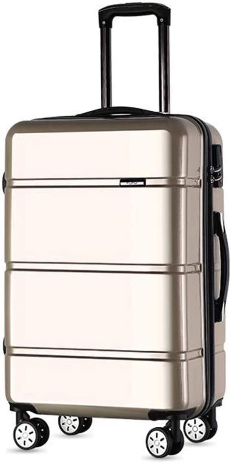 Jolly Luggage Super Lightweight Durable ABS Hardshell Hold Luggage Suitcases Travel Bags Trolley Case Hold Check in Luggage with 4 Wheels Built-in 3 Digit Combi Color : Gold, Size : 20 Inches