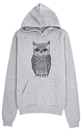 Are Felpa Cappuccio Portrait What Not Owl Con Seem They Owls Grigio Da Mysterious Idcommerce The Donna vqETff