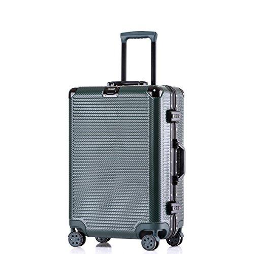 uminum Frame Durable PC Hardshell TSA Lock Spinner Suitcase 20 Inch Green ()