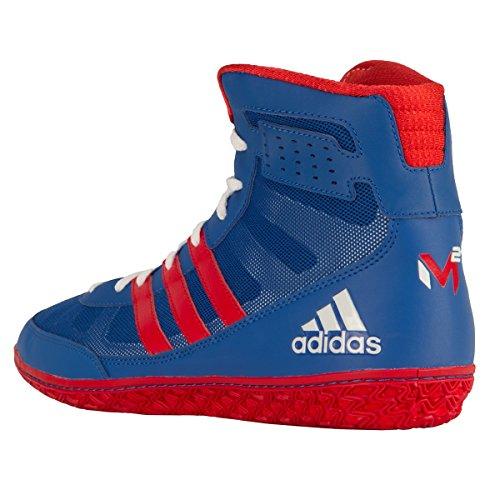 Adidas Mat Wizard 3 Chaussures De Lutte Royal / Rouge / Blanc