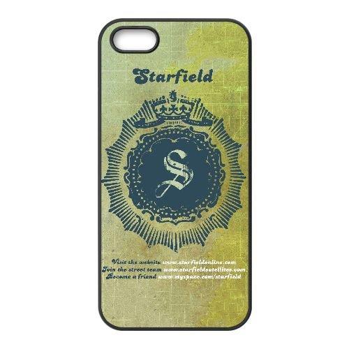 S3B81 Starfield K2G0CC coque iPhone 5 5s cellule de cas de téléphone couvercle coque noire DJ4BPV7XG