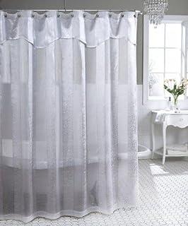 tan and white shower curtain. Park Avenue Semi Sheer Shower Curtain  Antique Ivory Amazon com Maytex Oneyka Fabric Tan Home Kitchen