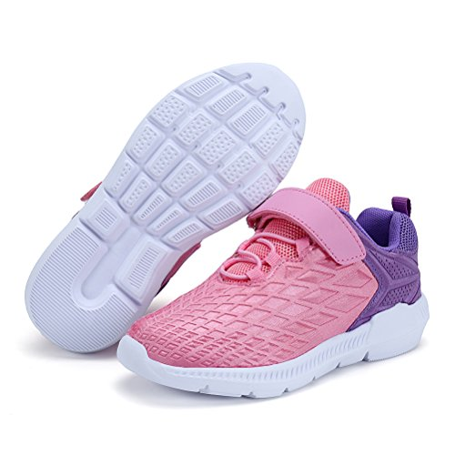 AFFINEST Boys Girls Lightweight Sneakers Athletic Easy Walk Casual Sport Running Shoes for Kids(Pink,26) by AFFINEST (Image #6)