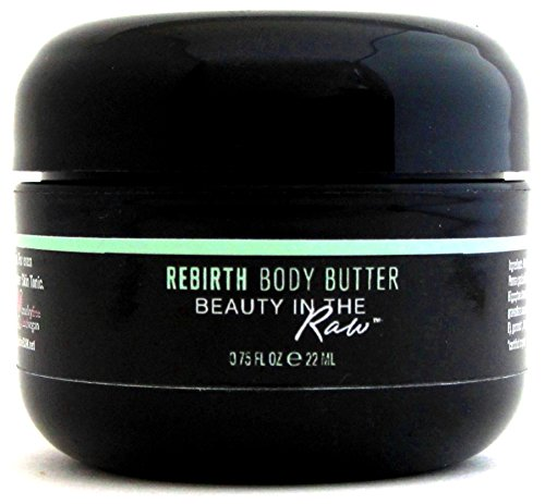 100% Natural, Organic, Vegan Wet Skin Moisturizer for Dry Rough Bumpy Sensitive Skin: hydrate, repair, protect, heal, soften, smooth | Rebirth Whipped Body Butter by Beauty in the RAW (0.75 oz)