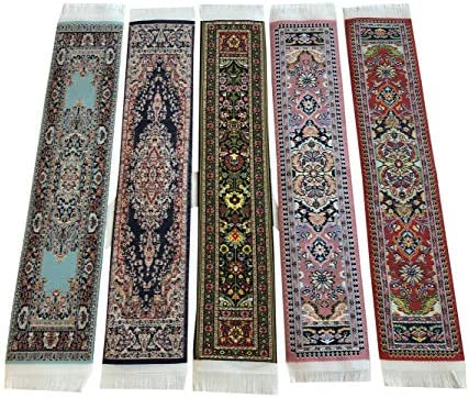 Amazon Set Of 5 Beautiful Rug Bookmarks Woven Carpet Book Mark