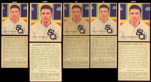 (1934 Diamond Stars Regular (Baseball) Card# 51 John Whitehead of the Chicago White Sox Ex Condition)
