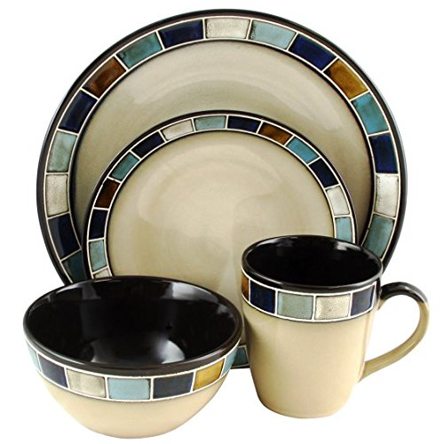 Gibson Elite Casa Estebana 16-Piece Dinnerware set in Blue a