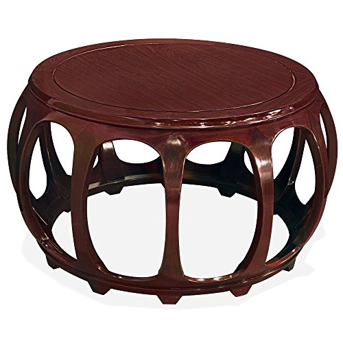 Rosewood Furniture China - China Furniture Online 36in Rosewood Round Drum Tea Table