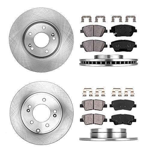 FRONT 300 mm + REAR 283 mm Premium OE 5 Lug [4] Rotors + [8] Quiet Low Dust Ceramic Brake Pads + Clips ()