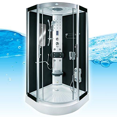 AcquaVapore DTP8046-6303 Dusche Dampfdusche Duschtempel Duschkabine -Th. 100 XL, EasyClean Versiegelung der Scheiben:2K Scheiben Versiegelung +89.-EUR
