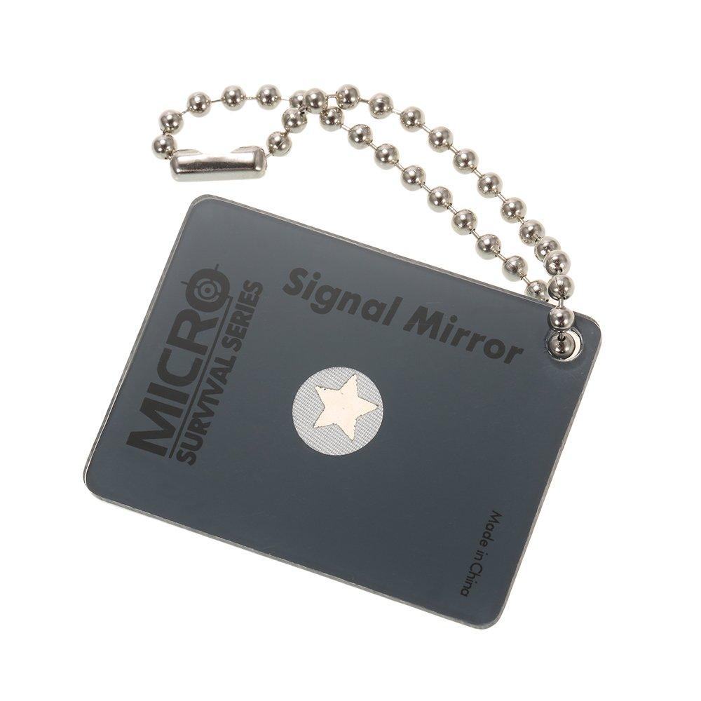 Explopur Dispositivo de se/ñalizaci/ón de Rescate de Emergencia de Supervivencia de Emergencia de Espejo de se/ñal de Micro Estrella al Aire Libre