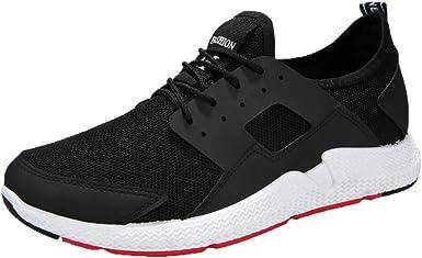 Zapatillas de Running para Hombre Aire Libre y Deporte Transpirables Moda Casual Comodo Zapatos Gimnasio Correr Ligero Sneakers Absorción de Choque Zapatos para Correr vpass: Amazon.es: Ropa y accesorios
