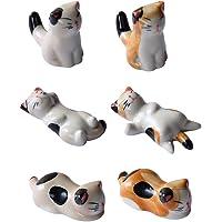 BESTONZON 6PCS Cerámica Palillos para gatos Resto Cena