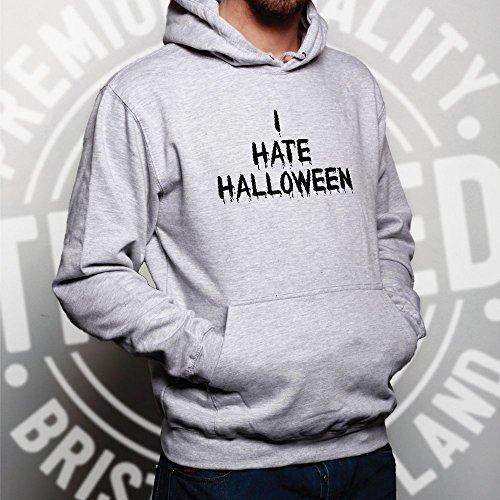 Anti-vacances Sweat À Capuche Unisexe Je Déteste Slogan Halloween Bleu Royal