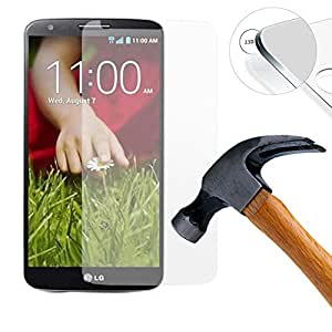misahouse Premium Tempered Glass Screen Protector for LG G2 hard glass easy Install 0.3mm Thin
