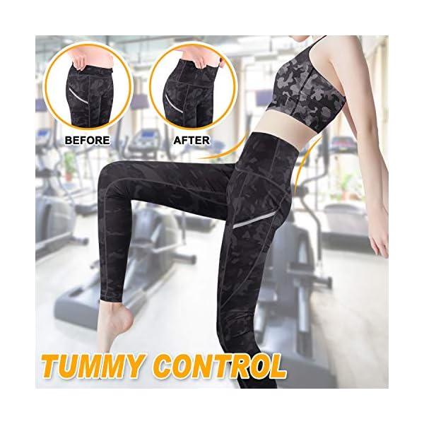 GRAT.UNIC Legging Sport Femme,Femme Pantalon Yoga avec Poche,Taille Haute Legging Sport,Femmes Mode Faire des exercices…