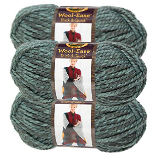 (Lion Brand Yarn (3 Pack) Wool Ease Super Chunky Yarn for Knitting Crocheting Soft Yarn Bulky #6 )