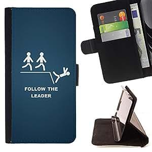 Jordan Colourful Shop - Follow The Leader Funny For Samsung Galaxy S5 V SM-G900 - < Leather Case Absorci????n cubierta de la caja de alto impacto > -