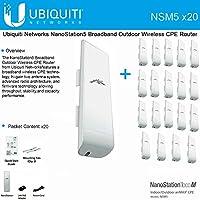 20 Pack Ubiquiti NanoStation M5 NSM5 5GHz 2x2 MIMO