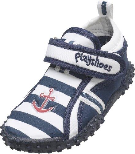 Playshoes Aquaschuhe, Badeschuhe Maritim mit höchstem UV-Schutz nach Standard 801 174781, Jungen Aqua Schuhe, Blau (original 900), EU 28/29