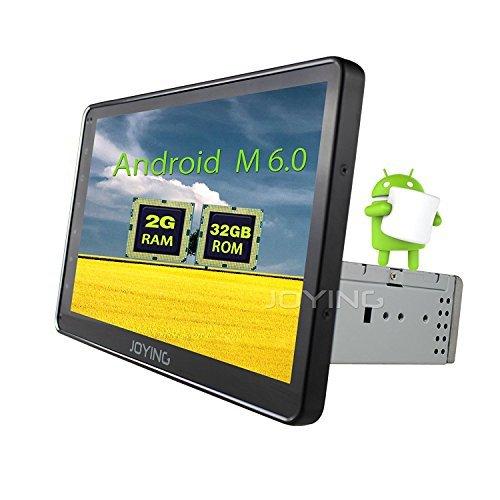 JOYING 10.1' Universal Android 6.0 2GB Car Stereo Head Unit Single Din Car GPS Navigation Bluetooth Car Radio Audio System for Lincoln/Mercury/Honda/Subaru/GMC/VW etc with DVR Wifi USB OBD2