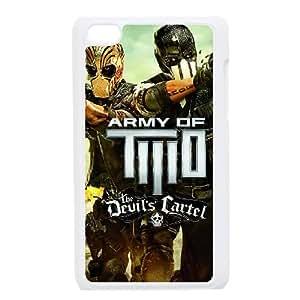 Army Of Two The Devils Cartel 2013 Amplia Caso iPod Touch 4 funda blanca del teléfono celular Funda Cubierta EOKXLKNBC07054