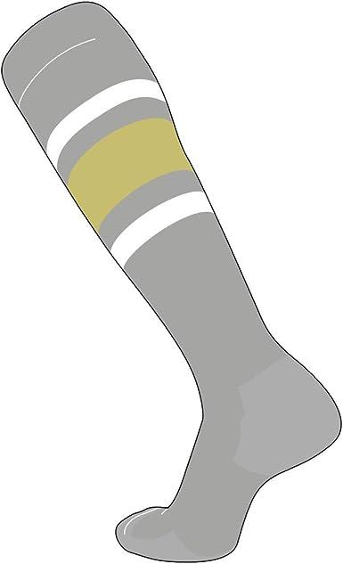 Red White Royal Blue TCK Elite Baseball Football Knee High Striped Socks E