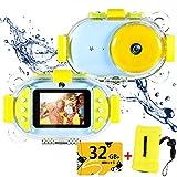 Kids Underwater Camera,ROTEK Dual 8MP 1080P Super HD Waterproof Digtial Camera with 2.4inch