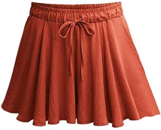 Mini Falda de Verano de Mujer de Moda Casual para Mujer Pantalones ...