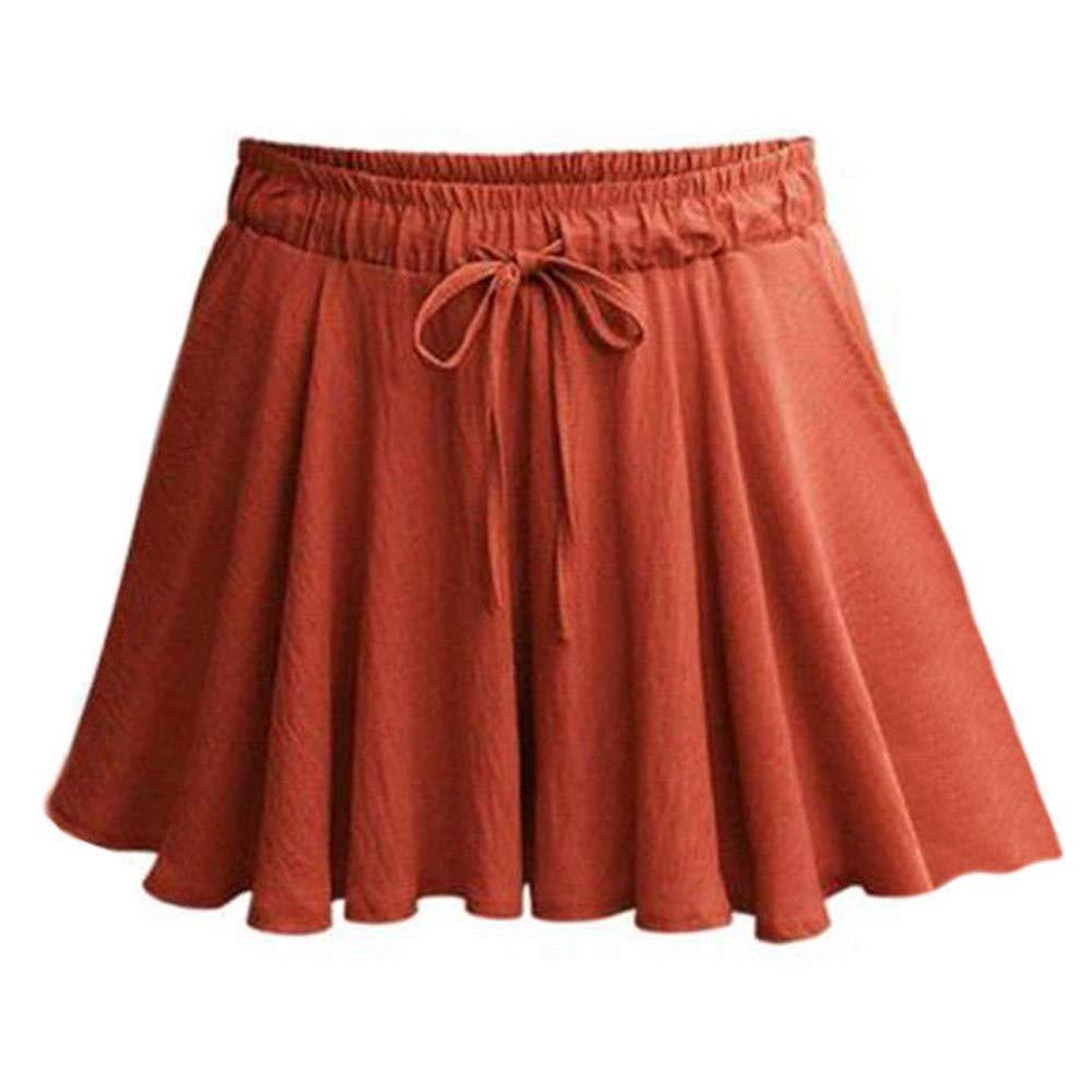 Mini Falda de Verano de Mujer de Moda Casual Damas Pantalones ...