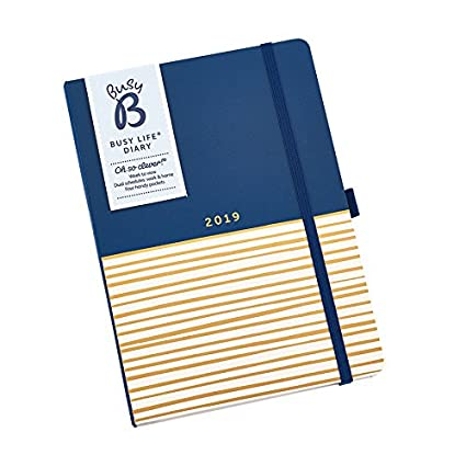 Busy B 2019 Busy Life Diary - A5 Week to View Agenda Planner with Pockets and Dual schedules