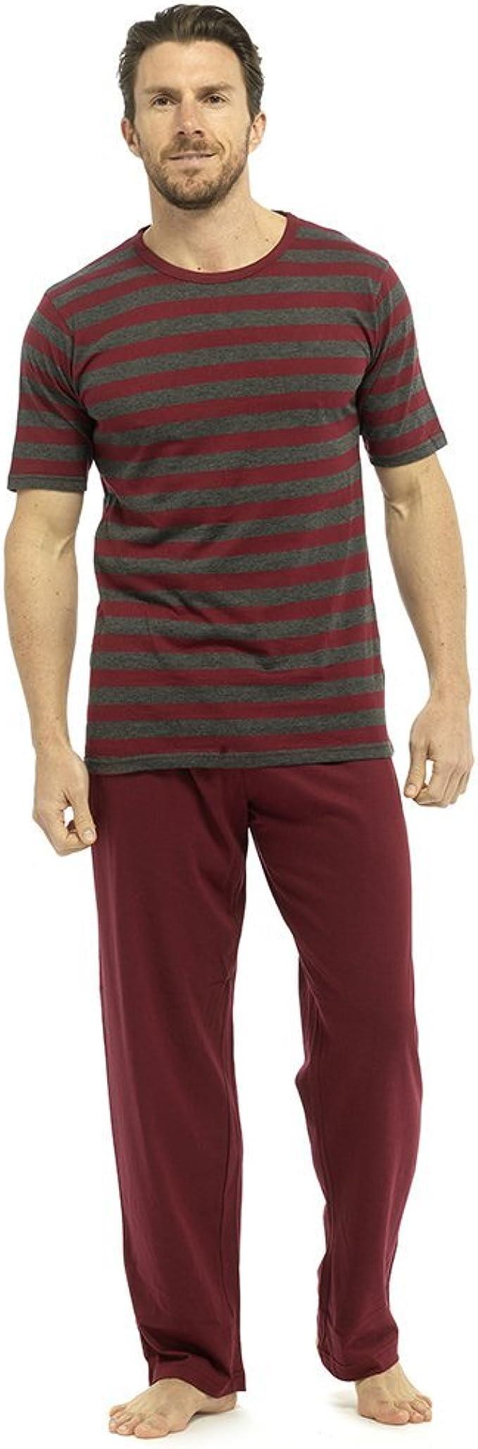 Conjunto de pijamas para hombre de manga corta y pantalones largos de verano 1 o 3 unidades