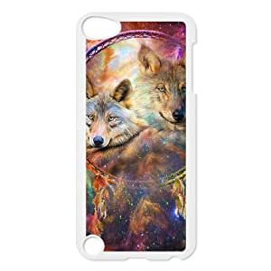 Ipod Touch 5 2D Customized Hard Back Durable Phone Case with wolf dream catcher Image