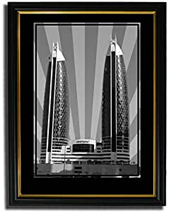 Photo of Damac Tower-Black And White No Text F08-NM (A3)