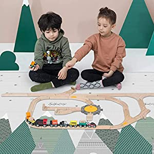 BINGGO LIMITED 200 x 180cm XPE Foldable Baby Play Mat Waterproof Crawling Mat Double-Sided Non-Slip Crawling Game Pad…