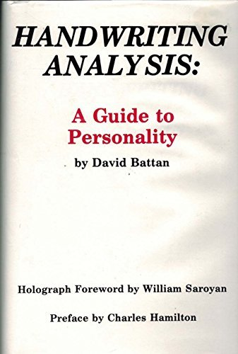 Handwriting Analysis: A Guide to Personality by David Battan (1984-01-30) by Padre Productions