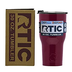 RTIC Double Wall Vacuum Insulated Tumbler, 30 oz, Maroon