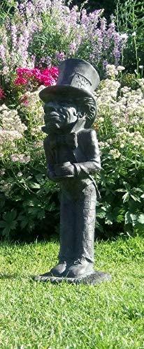 Red Finch Gruppo cappellaio Matto (da Alice nel Paese delle Meraviglie) Finitura Bronzo Giardino Statua