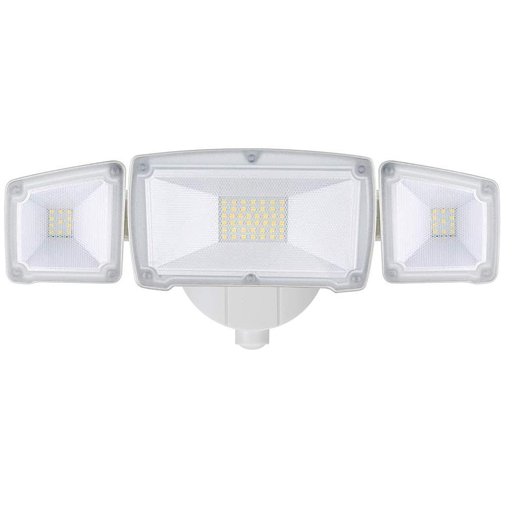 GLORIOUS-LITE 30W LED Outdoor Flood Lights, 3000LM Super Bright Security Lighting, IP65 Waterproof & ETL Listed, 5500K White Light, Adjustable 3 Heads Wall Mount Floodlights for Garage, Backyard,Patio