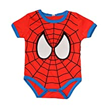 Peachi Spider-Man Short Sleeve Onsie Baby Toddler Infant Rompers Unisex 12m-3T