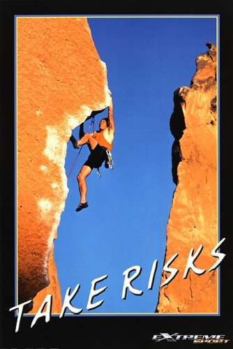 Take Risks - Extreme Sport - 24x36 Inches - POSTER by Poster Palooza