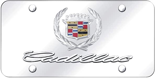 Cadillac Crest Logo Chrome Stainless Steel 50 States License Plate Frame