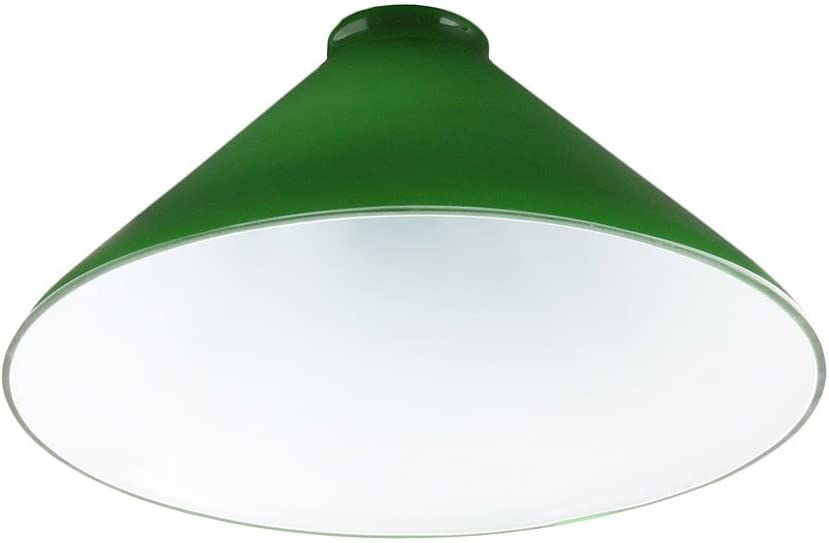 Upgradelights 10 Inch Green Glass Cased Lamp with 2 and 1 4 Inch Fitter