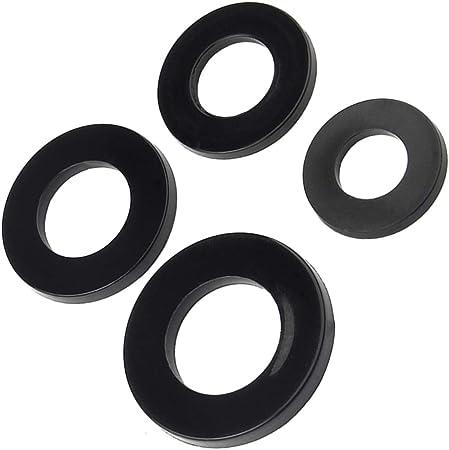 30 x 3 mm Clear Nylon plastique Spacer Rondelle pour vis M5 et Boulons
