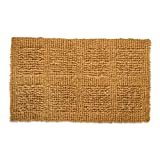 "Natural Coir Coco Fiber Indoor/Outdoor Plain Woven Doormat, 18x30"", Heavy Duty Entry Way Shoes Scraper Patio Rug Dirt Debris Mud Trapper Waterproof"
